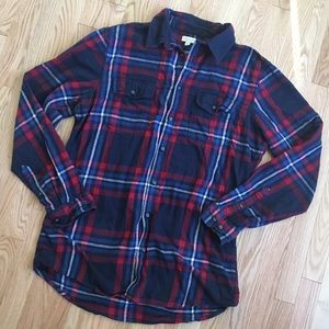 Sonoma Flannel Button Down Shirt L Tall